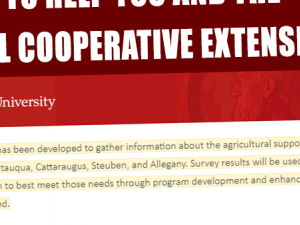 Preview of Ag Survey from Cornell Cooperative Extension (Spring 2018)