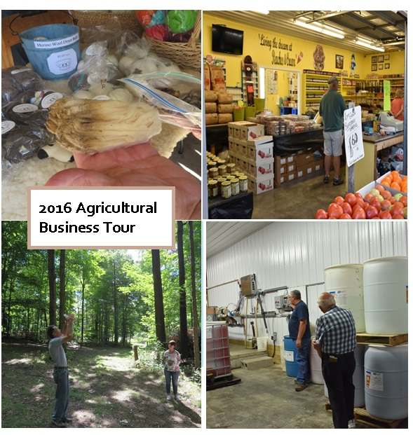 Collage of photos from the 2016 Fall Ag Tour
