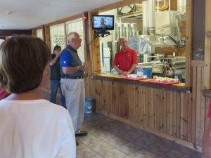 Randy Sprague discussing maple syrup process