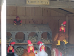 Talking poultry at Pumpkinville