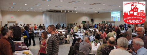 A view of some of the interactions at the 2013 Farmer-Neighbor Dinner