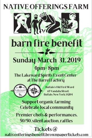 Barn Fire Benefit for Native Offerings Farm Flyer
