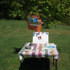 Table display at Eco Valley Farm
