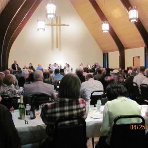 Diners at the 2012 Farmer-Neighbor Dinner
