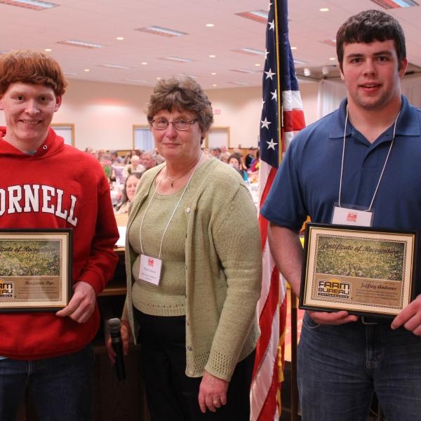Cattaraugus County Farm Bureau Scholarship Awardees. Credit: Rick Miller of the Olean Times Herald