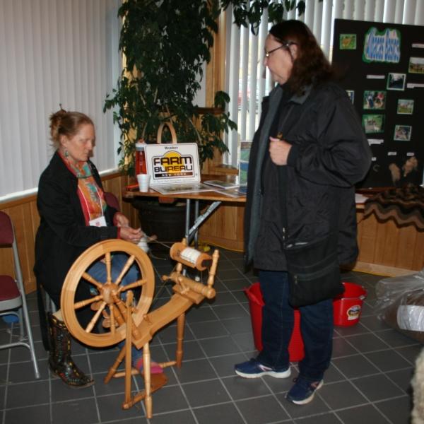 Spinning Alpaca fiber