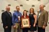 NYFB President David Fisher with Darin and Katie Hill of Cattaraugus County Farm Bureau, winners of the YF&R Achievement Award, NYFB YF&R Chair Kristen Brown and Bill Moller of Kubota